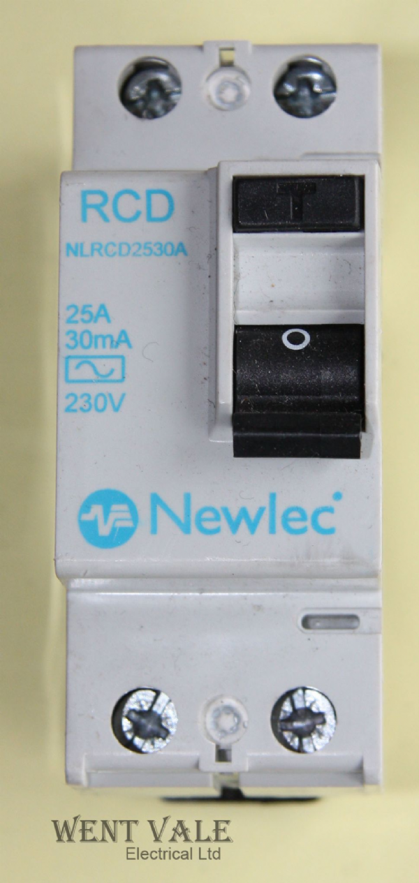 Newlec NLRCD2530A - 25A 30mA Double Pole RCCB Used